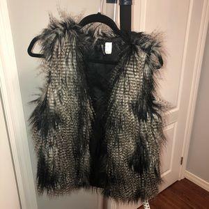 Faux fur vest from H&M